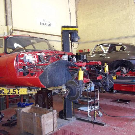 Pair of Jaguar E Types at Wight Classics