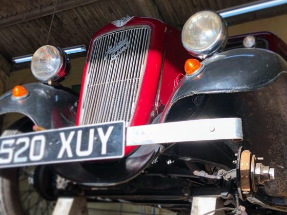 Austin Seven Ruby having its brake linings renewed - Wight Classics