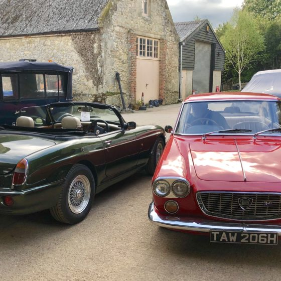 MG RV8 and lancia Flavia Wight Classiics