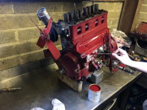 Painting an engine block MG TA  Wight Classics