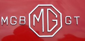 MG MGB GT boot badge Wight Classics